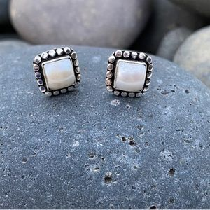 Sundance pearl earrings sterling silver studs post